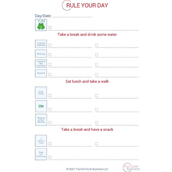 Rule Your Day Notepad